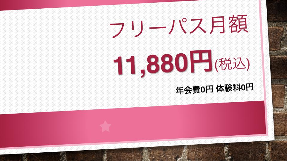 フリーパス月額11,880円(税込)2018ver.